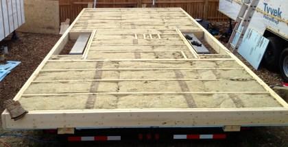 Foundation laid, R-30 insulation