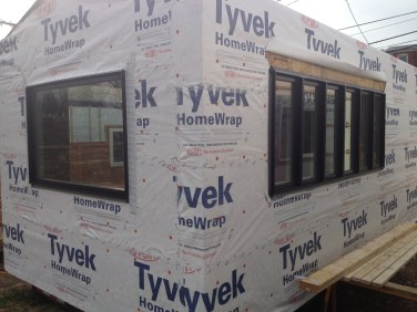 Windows installed in Minim House