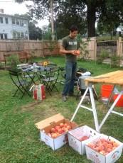 Peach canning prep
