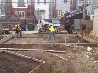 Day 1- Concrete pour
