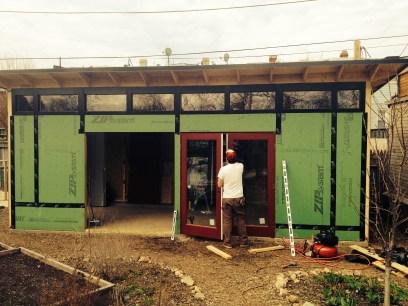 Day 3- Tony installs doors