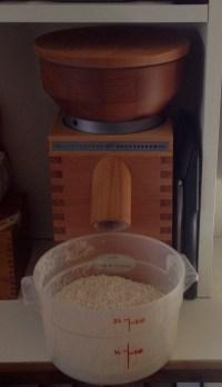 Sun-powered grain grinder making 100% whole wheat flour