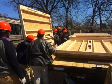 Moving wall sections