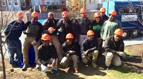 Cardozo High School tiny house builders
