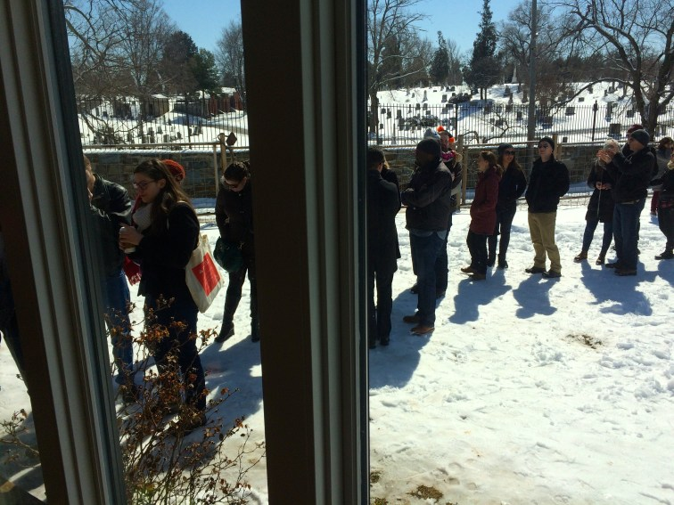 Microshowcase tour March 2015 - over 100 folks came out in the snow!