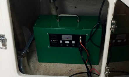 12V/120V power source with solar input