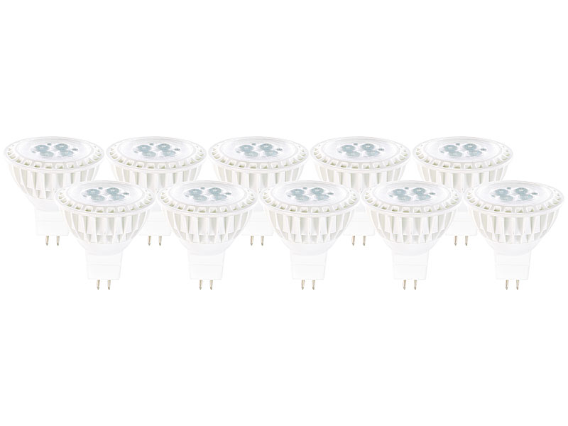 Luminea Neutralweiße LED-Spots: High-Power LED-Spot, GU5.3