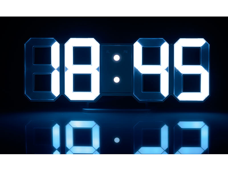Lunartec Uhr Groe LEDTisch  Wanduhr 7Segment