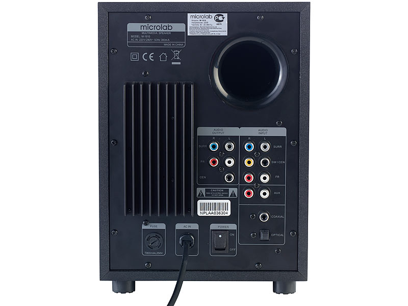 Auvisio Pcm 51surroundsoundsystem, Optischer Audio