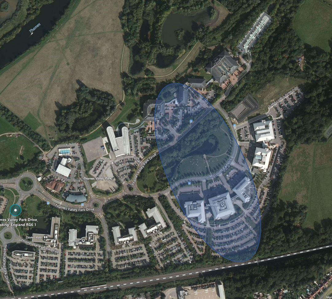 hight resolution of microsoft campus range testing results estimation
