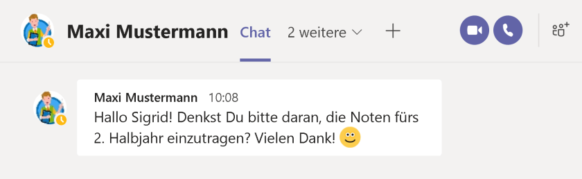 Chat in Microsoft Teams