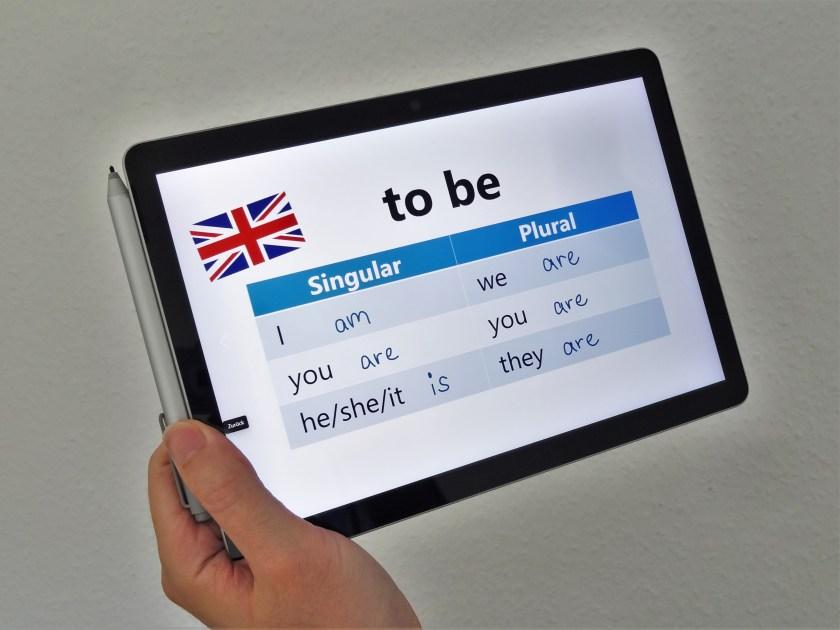 Surface Go 2 als Tablet in der Schule
