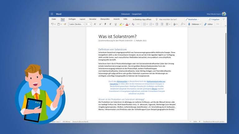 Arbeitsblätter in OneNote und Word erstellen