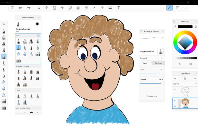 Autodesk SketchBook für Windows 10