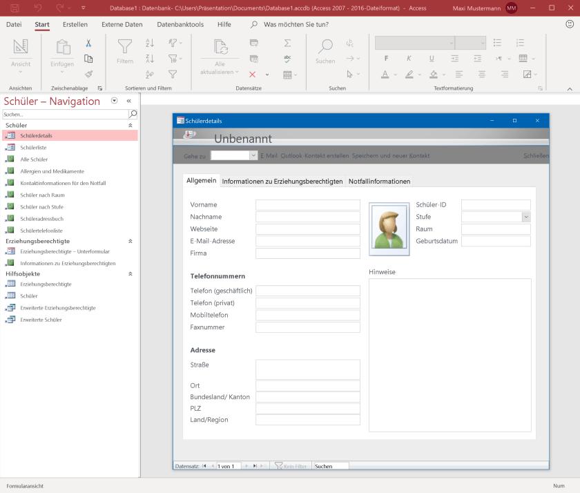 Microsoft Access – Datenbanken erstellen und pflegen