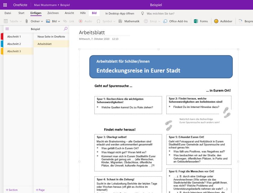 PDF-Dokument in OneNote