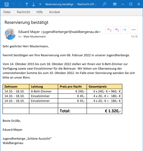 E-Mail in Outlook