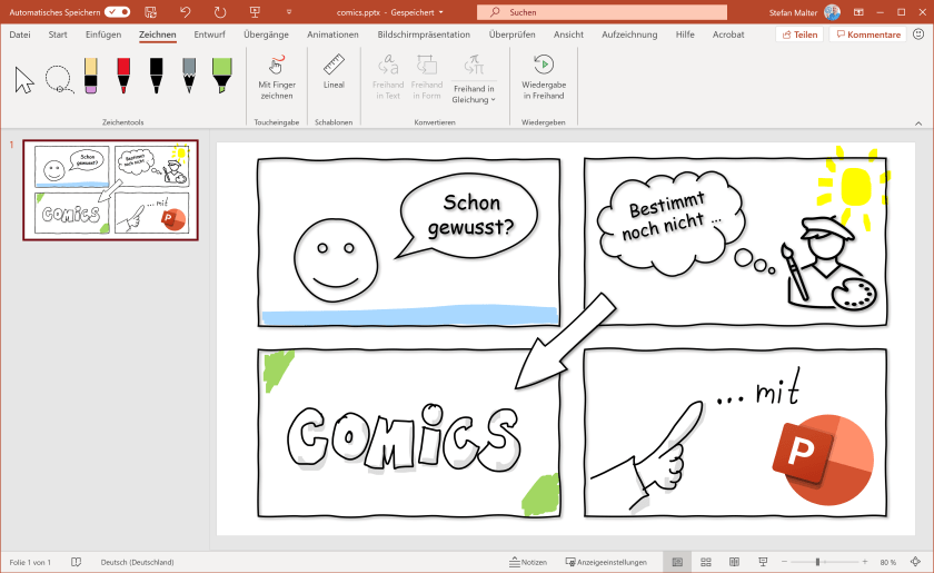 Comic in PowerPoint