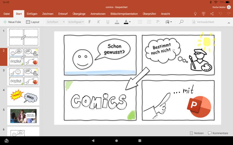 PowerPoint-Präsentation in der Office-App