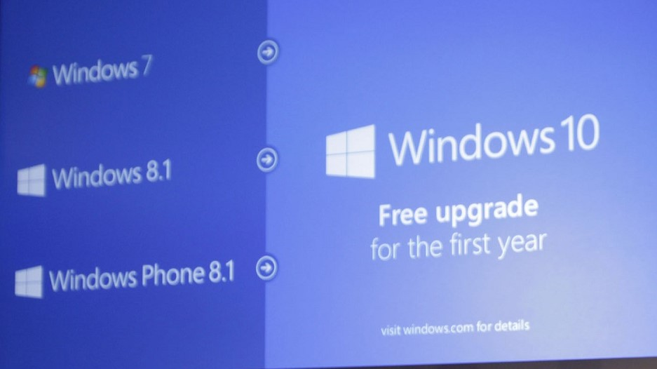 Windows 10 Free Upgrade for First Year