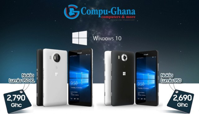 compu ghana lumia 950xl and 950