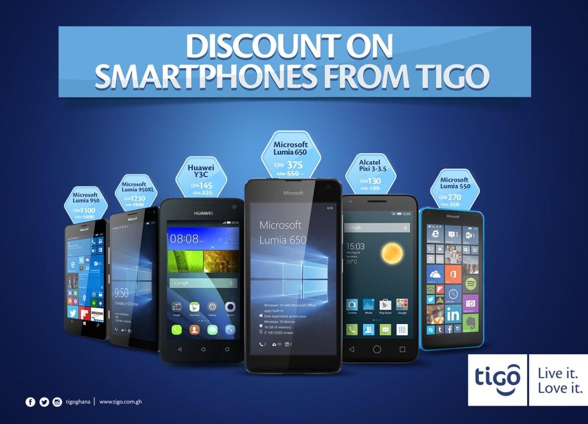 Tigo Ghana Smartphone Discount Promotion