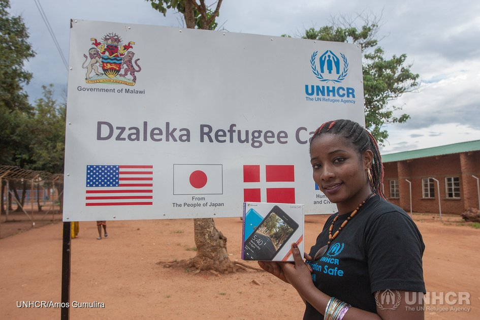 Microsoft and UNHCR's Connectivity for Refugees Project brings Hope to Dzaleka Refugee Camp, Malawi