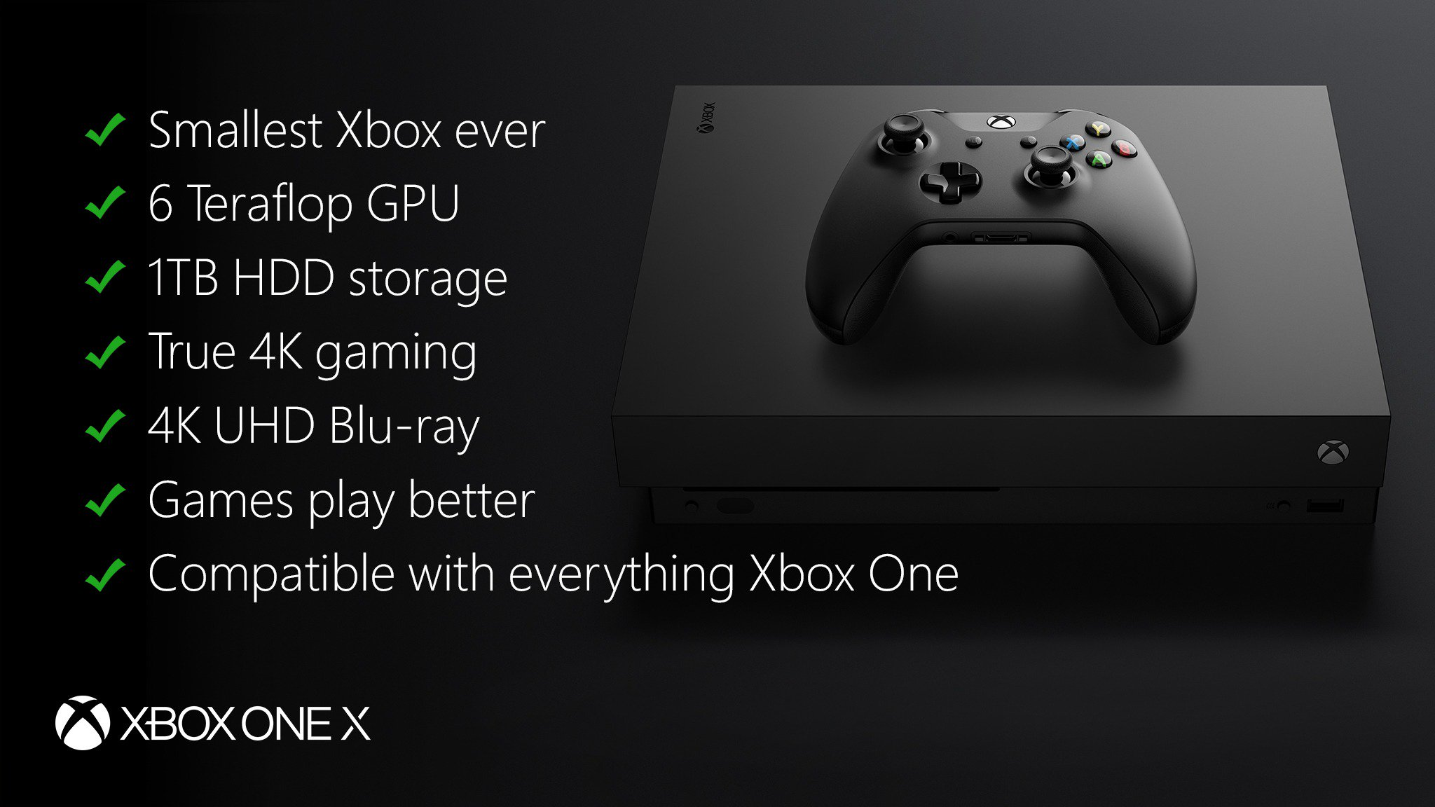 microsoft announces xbox one x showcases 42 games with. Black Bedroom Furniture Sets. Home Design Ideas