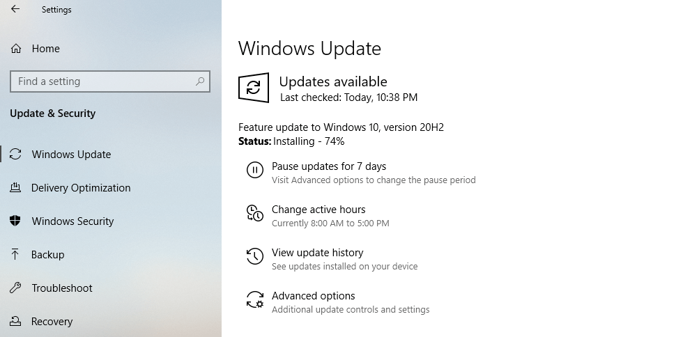 Windows 10 version 20H2 October 2020 Update download