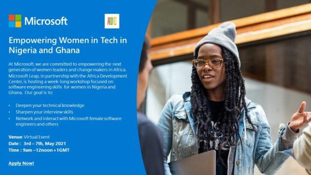 female software engineers Microsoft Ghana Nigeria