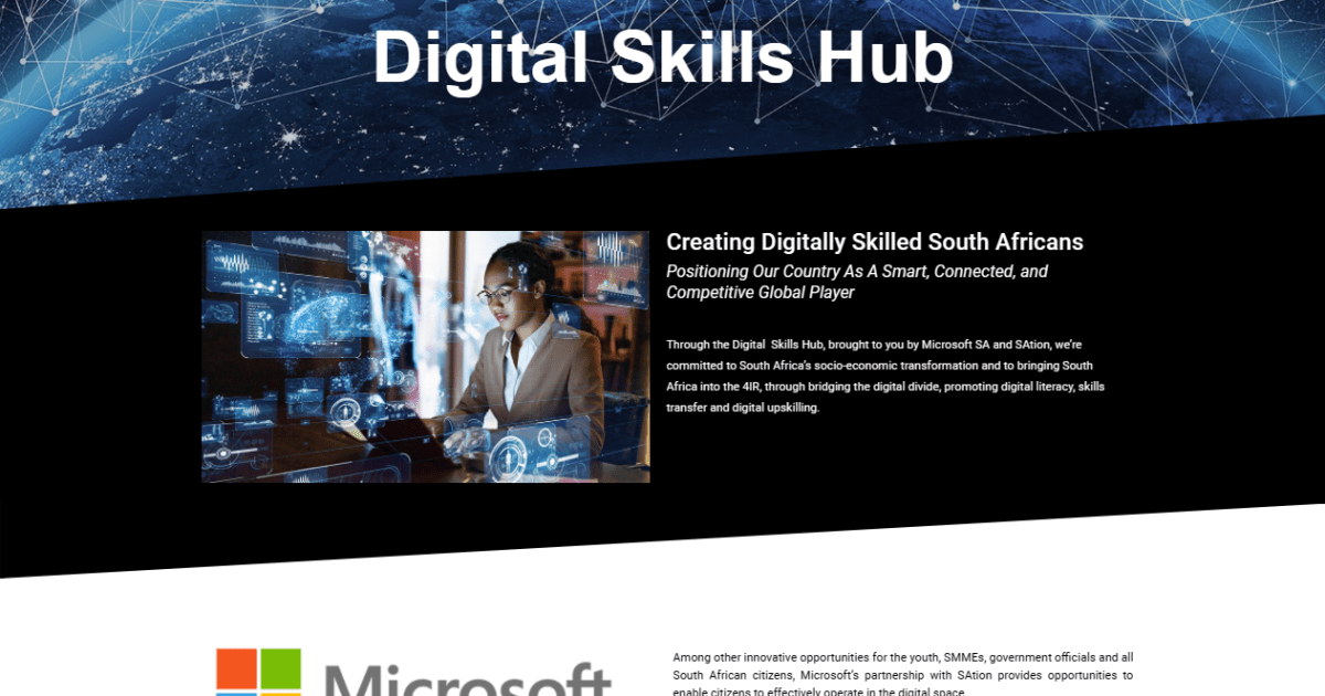 Digital SA Nation (SAtion) Microsoft South Africa