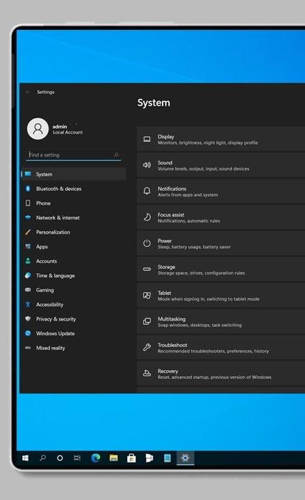 App de Configuración de Windows 11