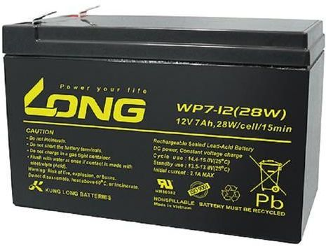 12V 7Ah WP7-12 LONG Battery | Microsolution