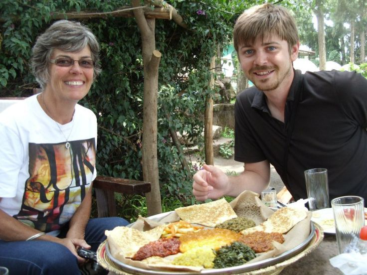 ethiopia rose and chris food platter