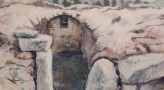 Ruins I (Sarmizegetusa 2011) | 50 x 90 cm | acrylic on canvas | 2011 by Olimpia Hinamatsuri Barbu