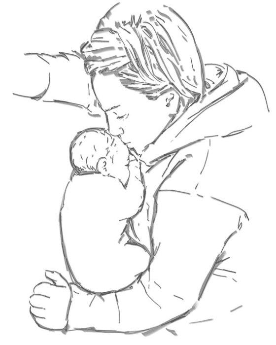 After a long journey - digital drawing by Olimpia Hinamatsuri Barbu