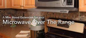 microwave range hood extender
