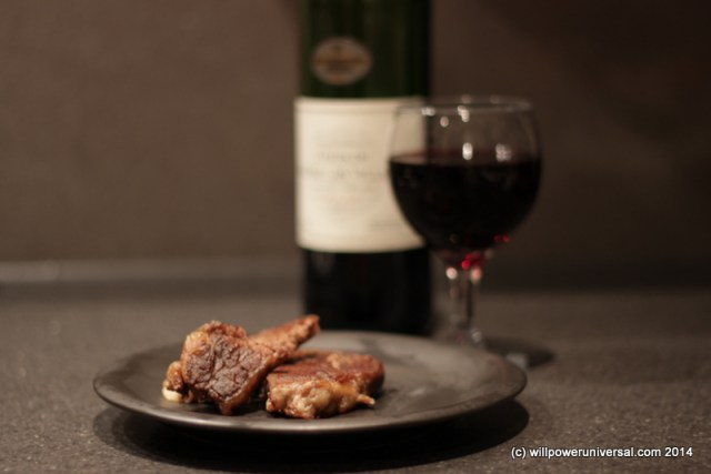 Microwave Steak With Wine
