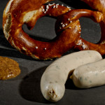 White Sausage with Pretzel