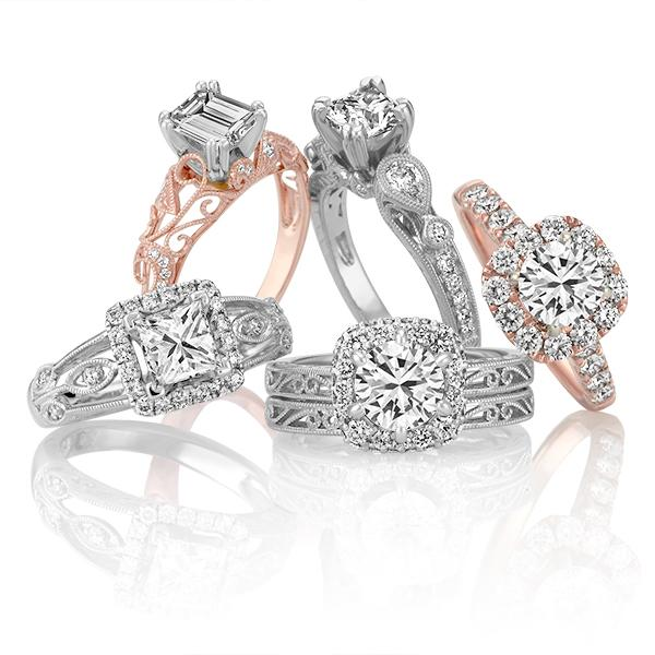 Clean engagement rings