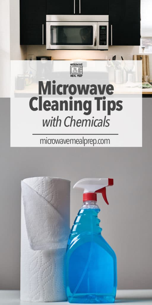 cleaning microwave with chemicals