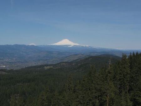 This viewpoint offers spectacular view of Mt. Adams, Mt. Rainier, Mt. St. Helens and Mt. Hood. 45°34.803'N 121°28.824'W