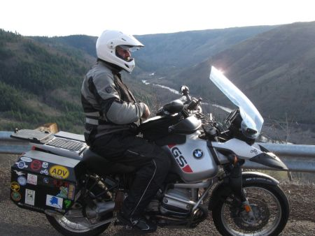 Co-Rider Gus on his BMW R1150GS