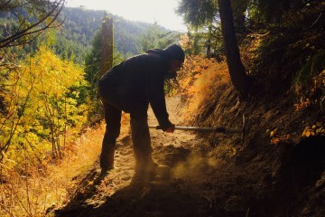 Trail work at Squilchuck