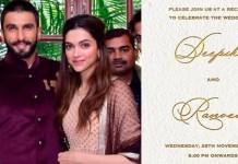 Telugu News Deepika ranveer advised not to bring any gifts their wedding