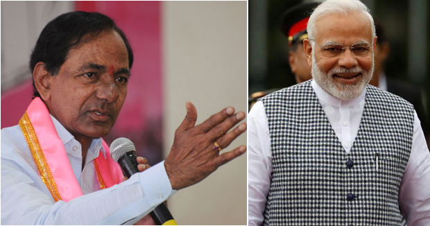 Telugu news TRS chief Telangana CM KCR blame PM Modi for discrimination between hindu and mulsims and warns state about Chandrababu.