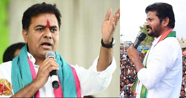 Telugu news TRS leader and Telangana minister KTR challenges Revanth Reddy of Kodangal on winning of TRS and Congress in upcoming assembly elections.