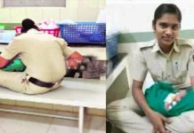 Telugu news Salute Police mother.. Give milk to the hungry child.