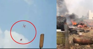 Two air force jet flights collide in mid air while rehearsing for Bangalore air force expo pilots escaped safely.