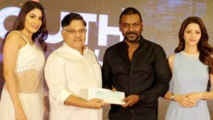 Megastar chiranjeevi donates one million rupees to raghava lawrence